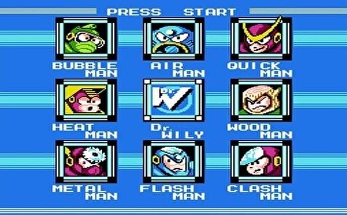 ロックマン2 ボス選択画面