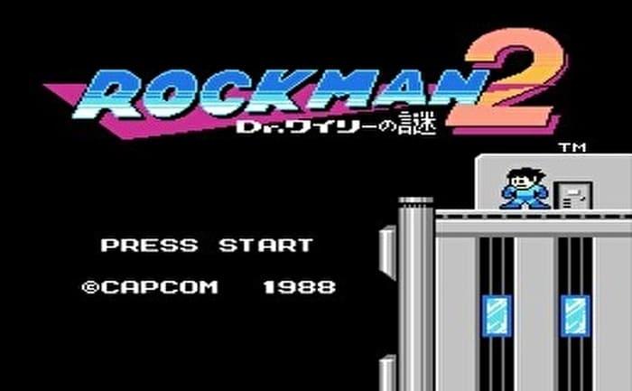 ロックマン2 タイトル画面
